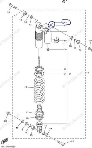 rotula mono shock superior yamaha yzf 450 original solomoto