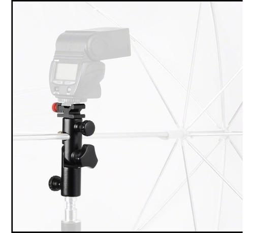 rotula p/ flash paragua trípode iluminación + adap 1/4 a 3/8