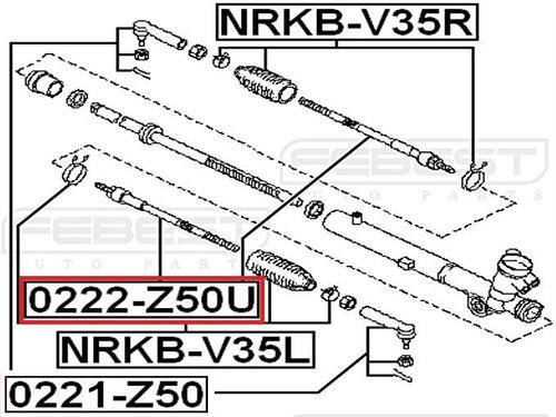 rotula terminal interno nissan murano z50 48521-ca025