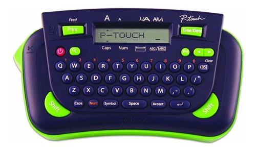 rotulador eletrônico brother pt80 azul c/ verde
