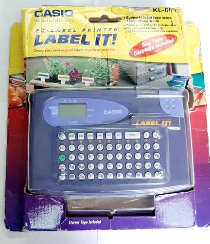 rotulador etiquetadora label casio kl-60-l