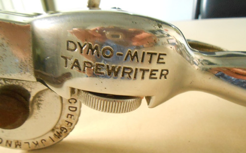 rotuladora antigua.dymo-mite tapewriter