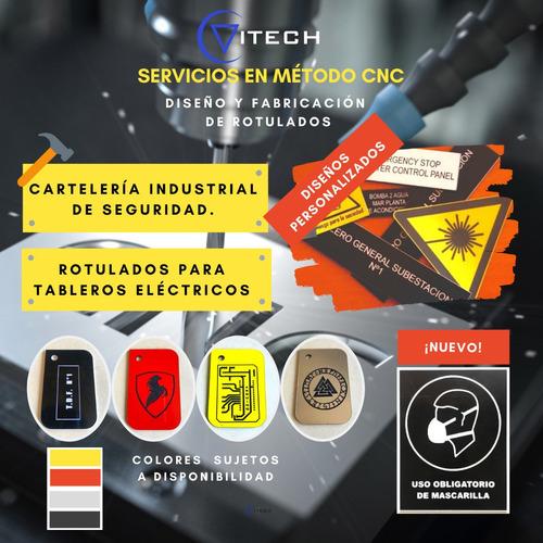 rotulados en lamicoid para tableros eléctricos y señalética