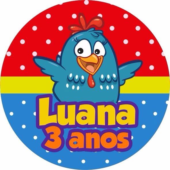 Aparador Espelhado ~ Rótulo Adesivo Latinha Galinha Pintadinha 30 Un Lembrancinha R$ 12,00 em Mercado Livre