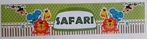 rotulo floresta safari (10 unidades)