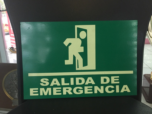 rótulo salida de emergencia luminiscenteluminicente
