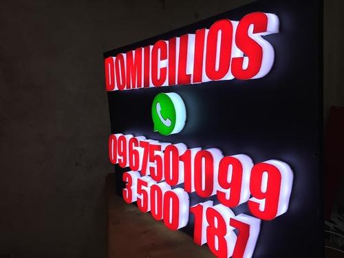 rotulos 3d quito, cajas de luz, letras corporeas