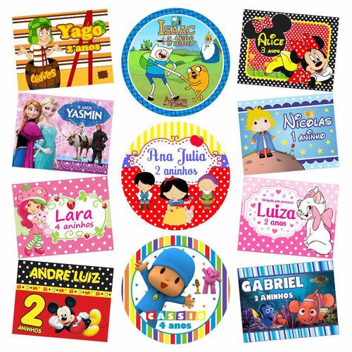 rótulos adesivos personalizados festa infantil só r$ 7,99