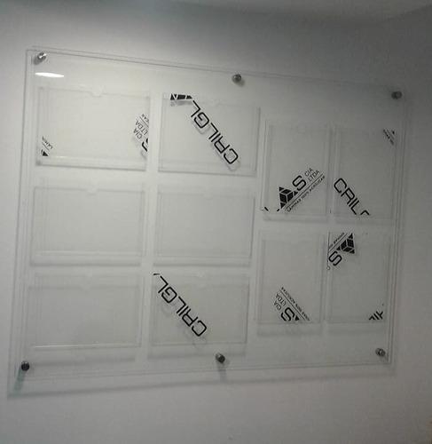 rotulos en vidrio, acrilico, 3d