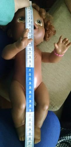 roupa baby alive vestido azul em crochê com joaninha