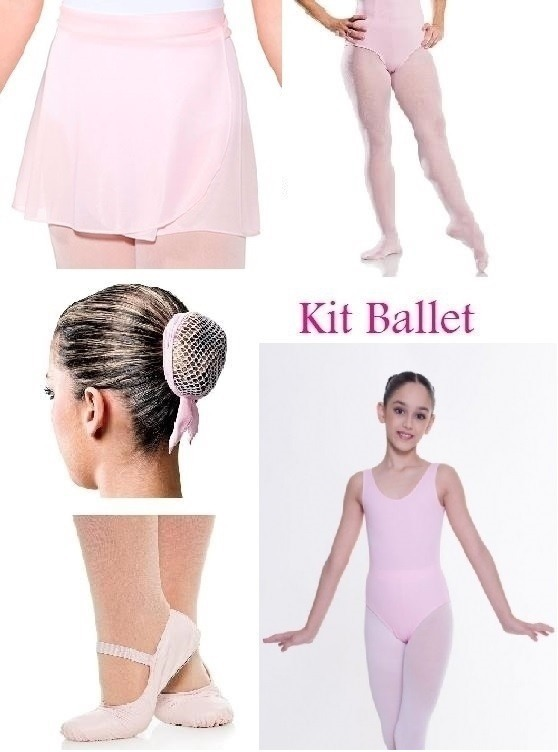 d64cc19c0e Roupa Ballet Bailarina Kit Uniforme Aula Juvenil 10 A 16 - R  119