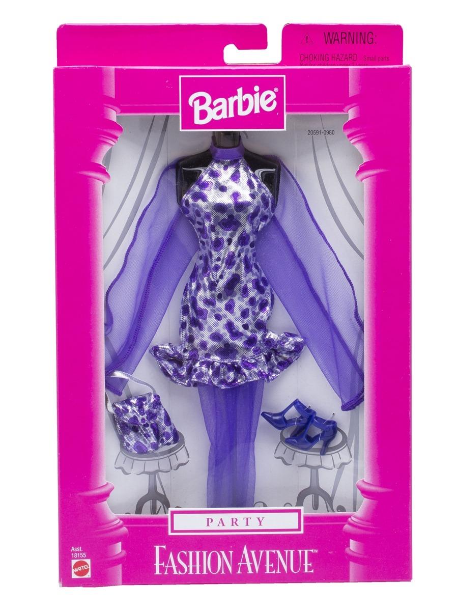 e363540af17ff roupa barbie fashion avenue party vestido roxo - mattel. Carregando zoom.