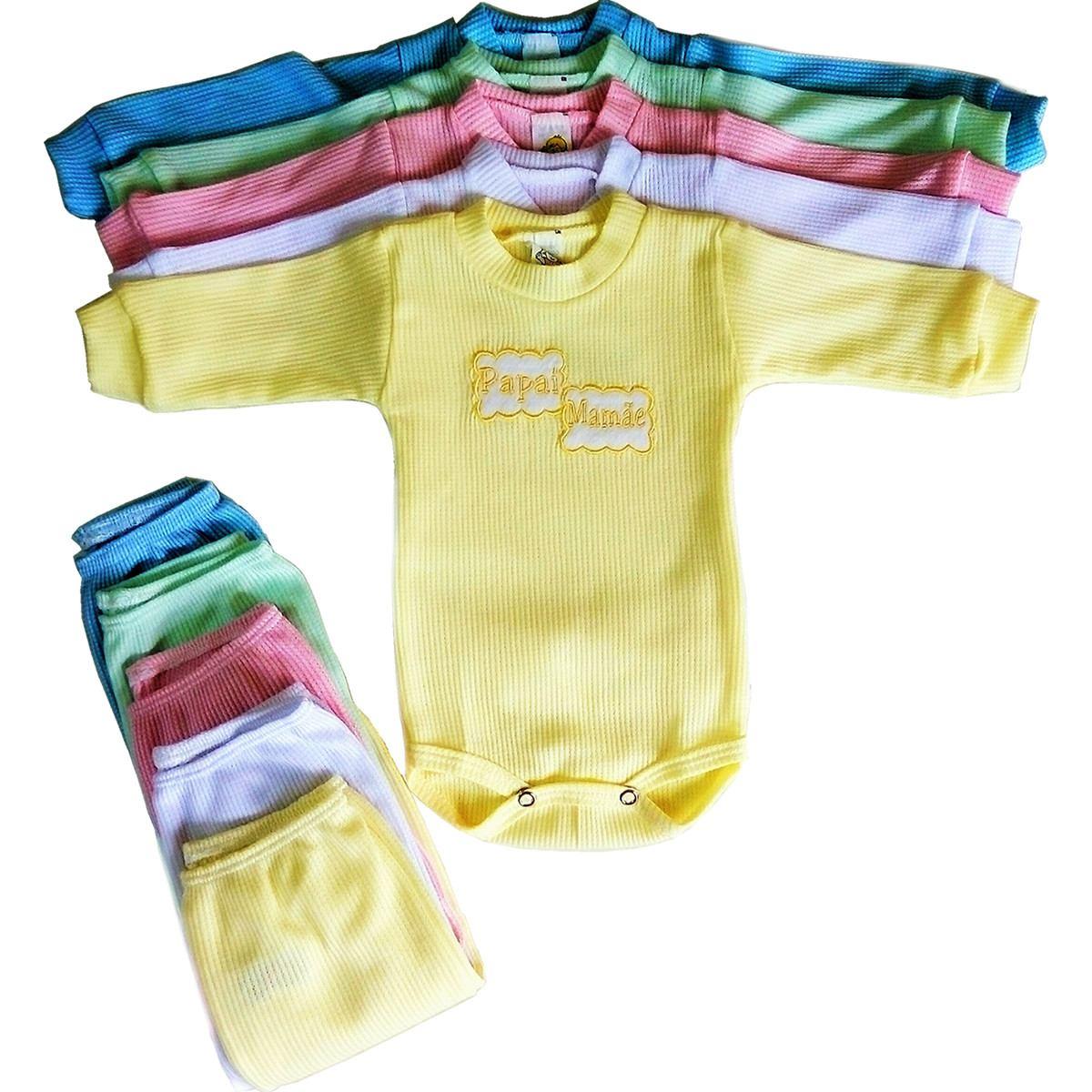 roupa bebê conjunto body + pijama manga longa com 20 peças. Carregando zoom. 802ebc5200990