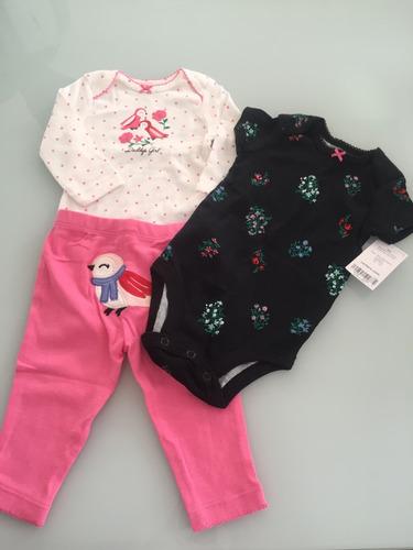 roupa bebê, kit carters feminino original, com etiqueta.