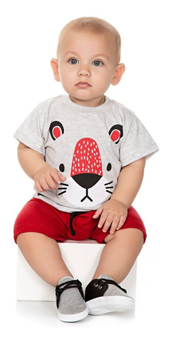 roupa bebê menino kit 6 conjuntos camiseta e bermuda isensee
