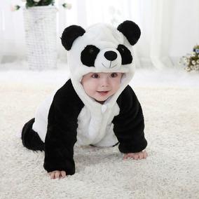 d898411f0a8a4f Roupa Bebê Panda Fantasia Bichos Animais Macacão Criança