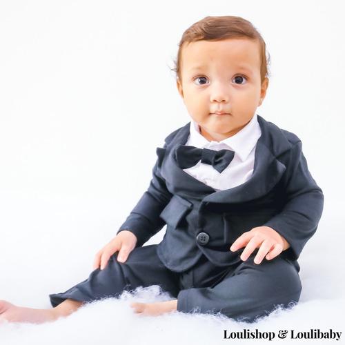 roupa bebê social terno com gravata casamento batizado