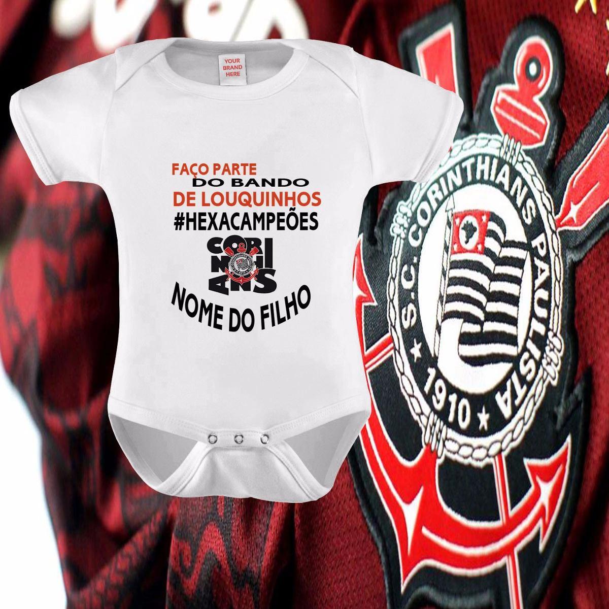 1821d4d952 roupa bebe time timão corinthians hexacampeão kids futebol. Carregando zoom.