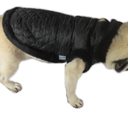 roupa cachorro/ gato inverno frio casaco nylon dublado preto