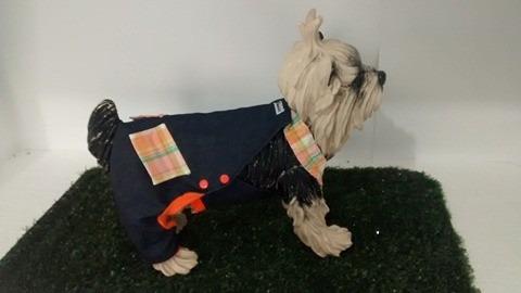roupa cachorro jardineira jeans cães e gatos ihasa apsso
