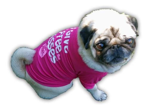 roupa cachorro/gato peq/medi verão - estampa i give free kis