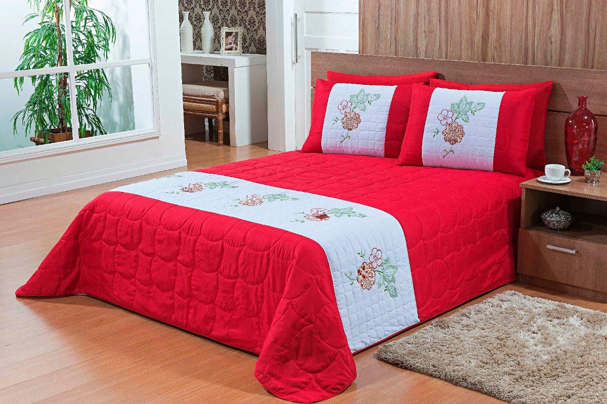 329bb82e62 Edredon Roupa De Cama Queen Bordado Casa Ibitinga Barato - R  119