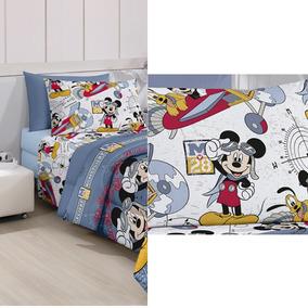 6450b17458 Roupa Cama Infantil Disney Mickey Menino 3 Peças Colorido