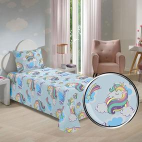 568beae4d Jogo Cama Infantil Unicornio - Roupa de Cama no Mercado Livre Brasil