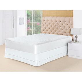 5b932b9e9 Protetor Capa De Colchão Impermeável Box Casal Queen Branco