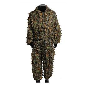 Roupa Camuflada Traje Ghillie Suit 3d - Sniper Caça Airsoft