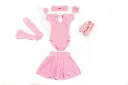roupa de ballet infantil do  2 ao 12 + bolsa