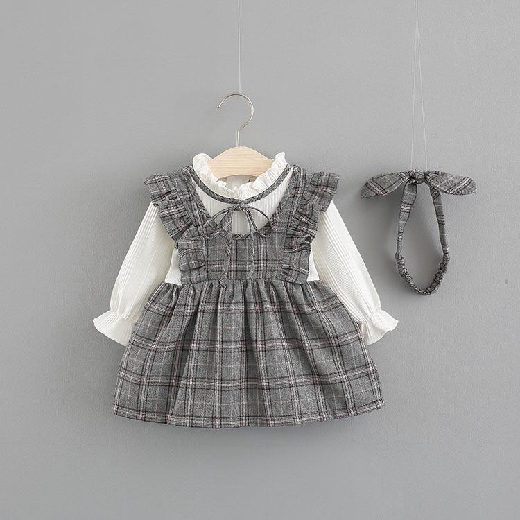 0812a8adf5 Roupa De Bebê Conjunto Menina Salopete Xadrez - R  115