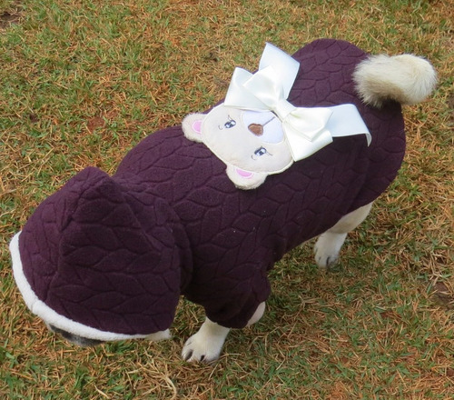 roupa de cachorro pequeno medio inverno agasalho marrom