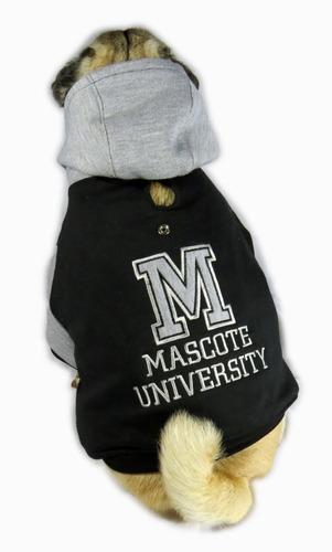roupa de cachorro/gato inverno frio moletom capuz universita