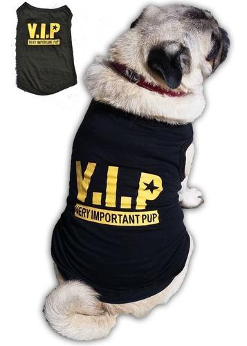 roupa de cachorro/gato peq/medio verão regata - estampa vip