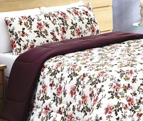 roupa de cama casal padrão living 01 peça - branco