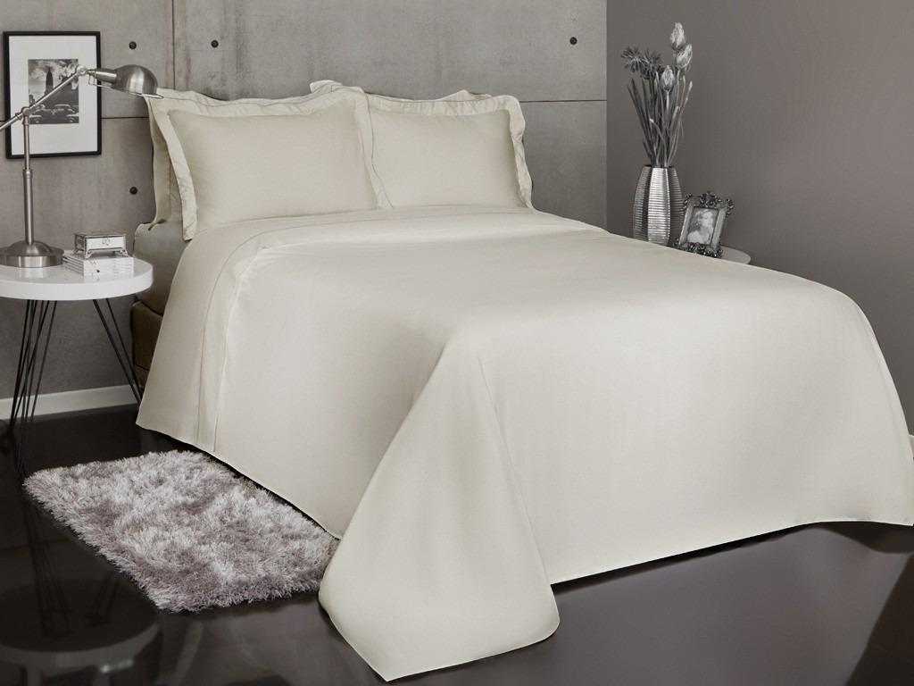 607d5871d6 roupa de cama queen 4 peças marfim percal 300 fios. Carregando zoom.