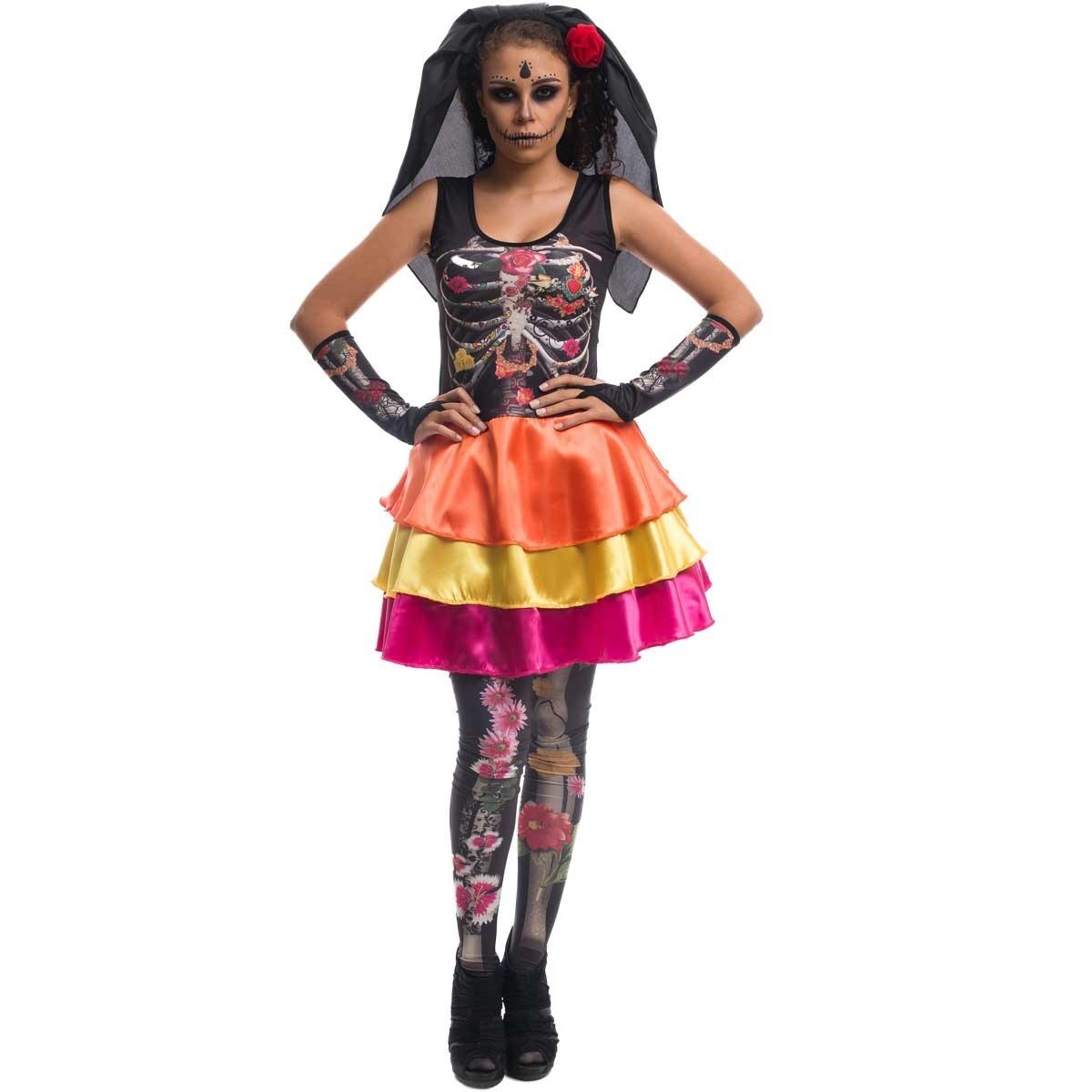 roupa de caveira mexicana halloween festa dia das bruxas. Carregando zoom. 0dd5df2d65d