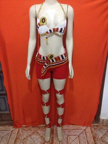 roupa de dança do ventre - sexy - fantasia - cobra- vermelho