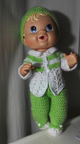 roupa de inverno crochê para baby alive ou semelhantes