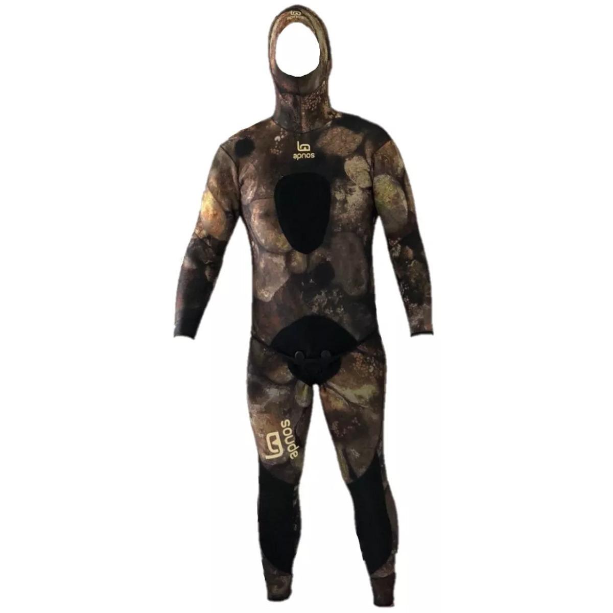 roupa de mergulho pescasub opem cell camuflada apnos 3mm 3d. Carregando  zoom. 8d39e60d4c2fb