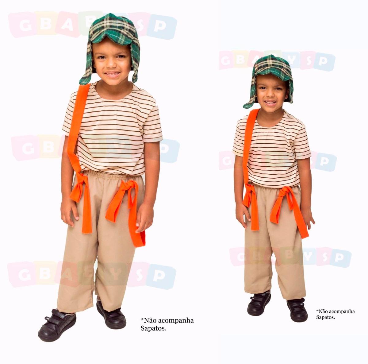 100c509be roupa do chaves infantil fantasia para criança tam 3a10anos. Carregando  zoom.