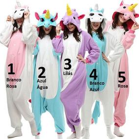 45d8140084 Unicornio Pijama Tamanho Gg - Roupa de Dormir Pijamas GG para Feminino Azul  violeta no Mercado Livre Brasil