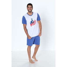 fee20b587 Pijama Super Herois Masculino - Roupa de Dormir Pijamas para ...