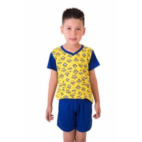 a737a1db449742 Pijama Minions Puket - Calçados, Roupas e Bolsas Azul no Mercado ...