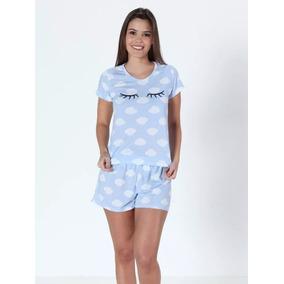 470f97ad6 Pijama Curto Short Doll Plus Size C  Manga Malha Pv Promoção