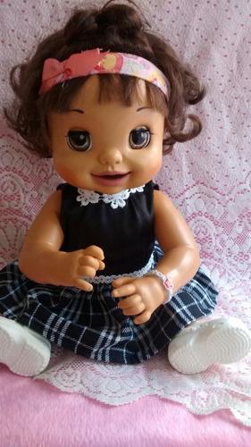roupa e sapato para boneca baby alive comer brinca,troninho