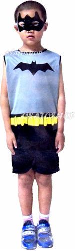 roupa fantasia batman infantil curta verão, frete grátis.