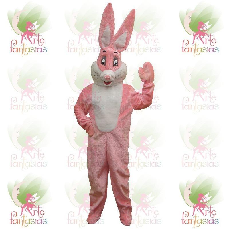 86c0f0172 roupa fantasia de coelho rosa pelúcia páscoa mascote cabeção. Carregando  zoom.