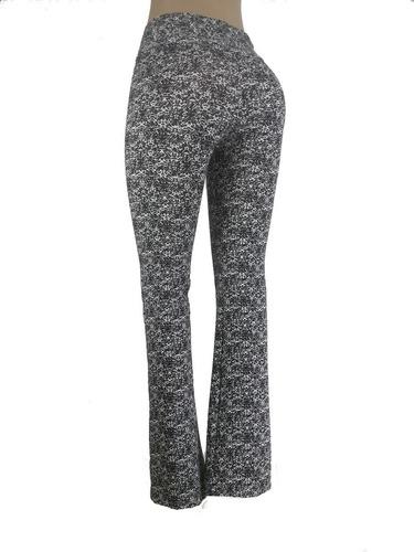 roupa feminina barata 3 calça flare estampada tendência